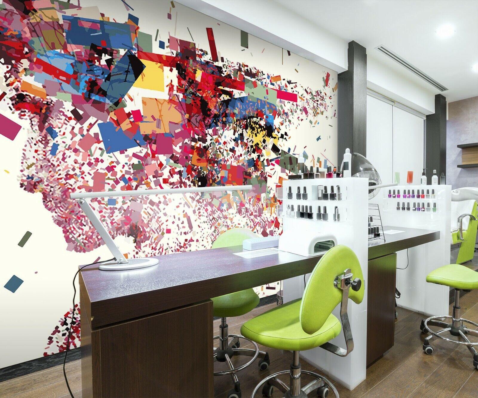 3D Farbe Kunst M683 Geschäft Tapete Wandgemälde Selbstklebend Handel Amy