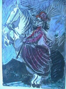 Pablo-Picasso-Toros-Y-Toreros-1961-Color-Lithograph-Print-Horse-Limited-Edition