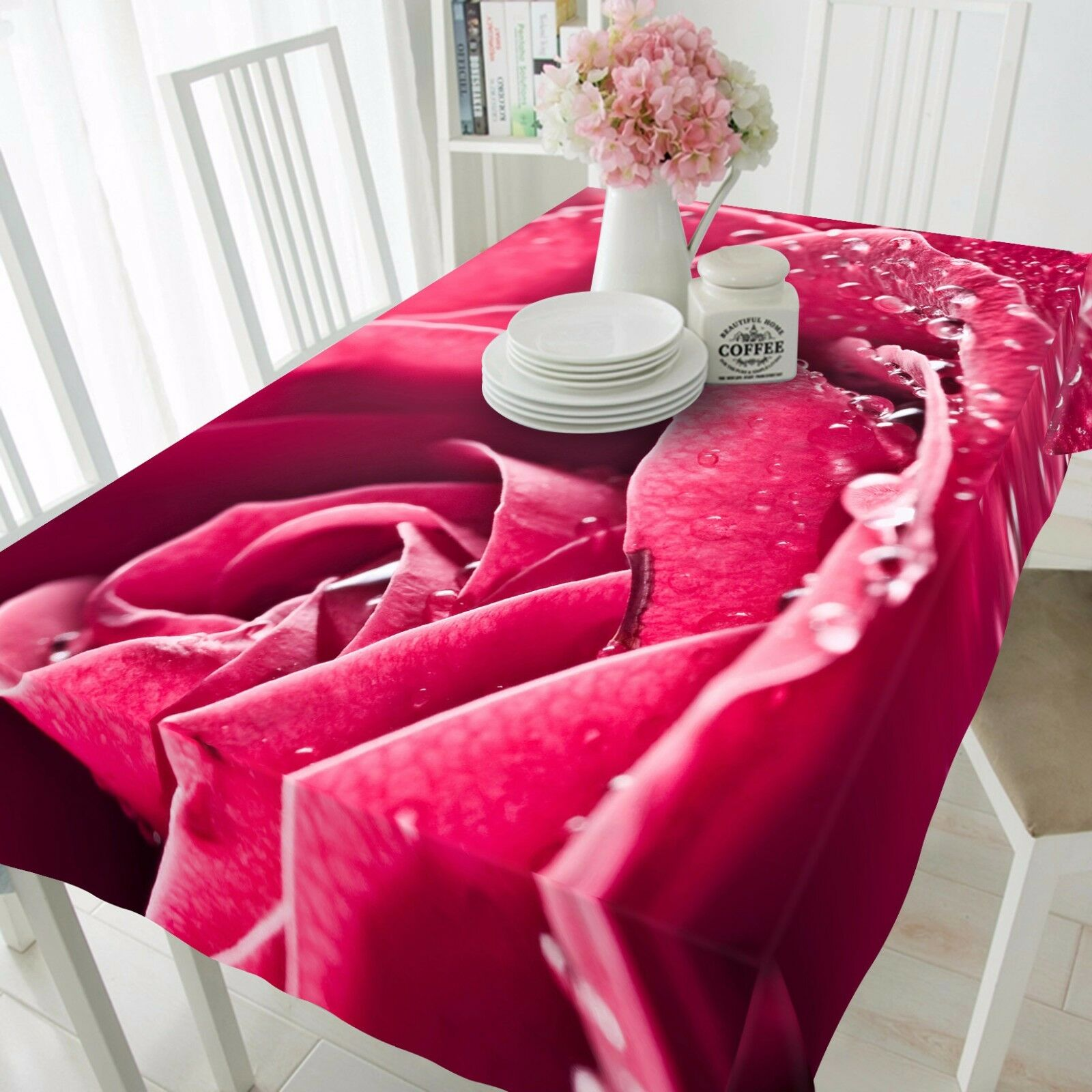 3D Red pink 77 Tablecloth Table Cover Cloth Birthday Party Event AJ WALLPAPER UK