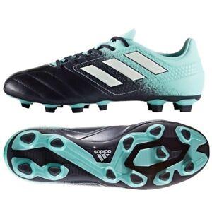 new arrival bc65f 4a7d6 Adidas Ace 17.4 FxG scarpa da calcio calcetto uomo blu verde acqua S77093 Scarpe  da calcio