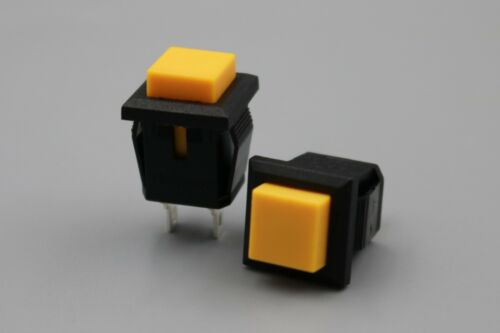 50Pcs PB04 Square Momentary Push Button Switch OFF- 14mm 3A//125VAC SPST ON