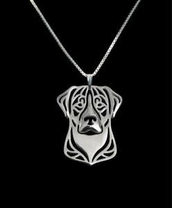 Greater-Swiss-Mountain-Dog-Silver-Charm-Pendant-Necklace-Dog-Lover-Friend-Gift