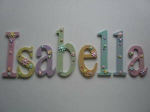 Image Is Loading Wooden Letter Names Nursery Bedroom Decorations