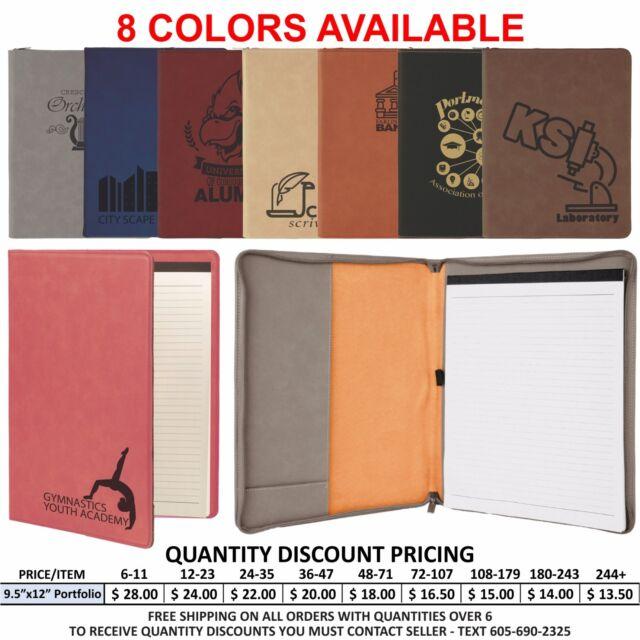 faa3995d9343 Personalized Leather Portfolio Custom Business Promotional ...