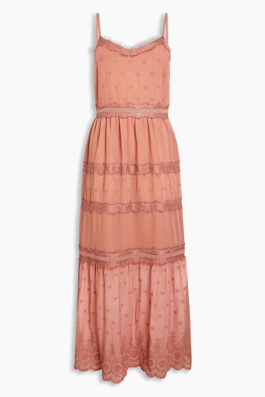 Next Pink Lace Detail Maxi Dress RRP