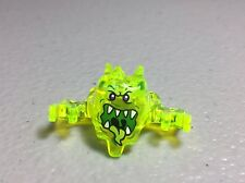 New Ninjago Skreemer Mask with Mouth Open Trans Neon Green Minifig Headgear