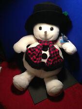 "SNOWDEN Plush 22"" SNOWMEN 1997 TARGET CHRISTMAS Super Cute w/Black Stovepipe Hat"