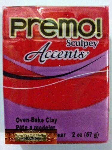M00615 MOREZMORE Premo Accents Sculpey RED GLITTER 5051 2oz Polymer Clay A60