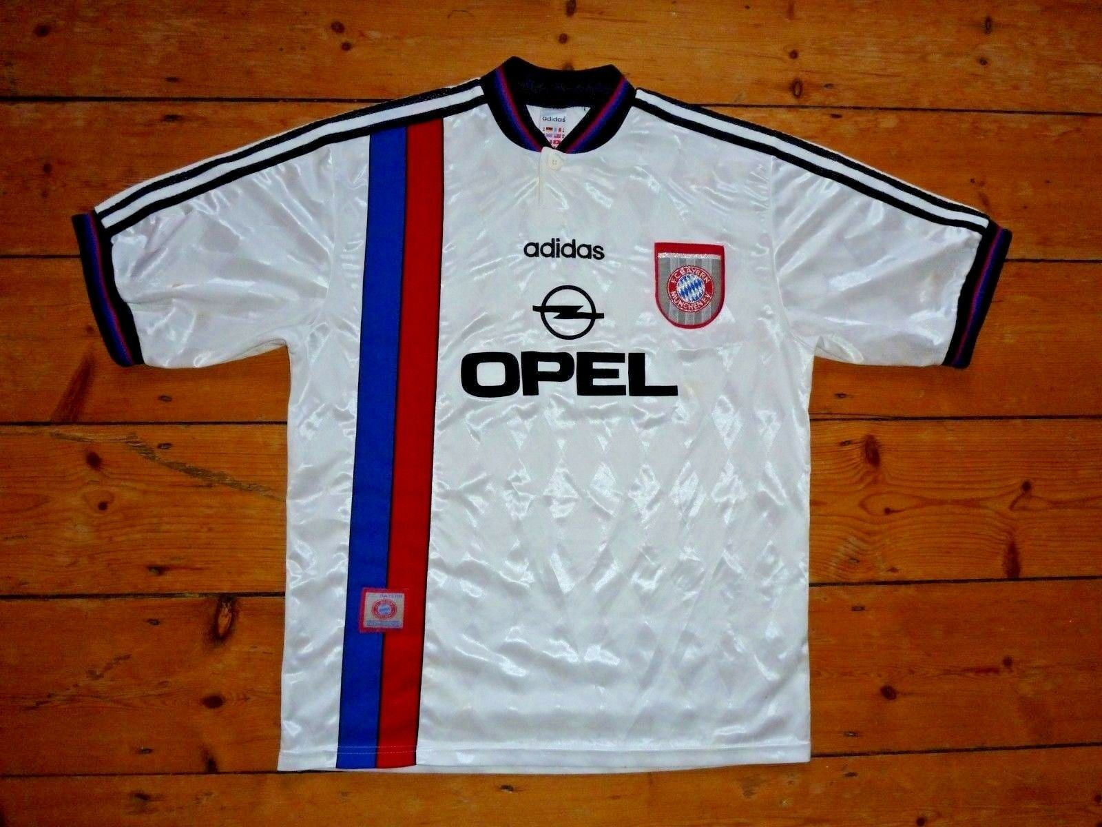 Bayern Monaco Calcio in Jersey grandi via 1995 SOCCER JERSEY MUNCHEN M
