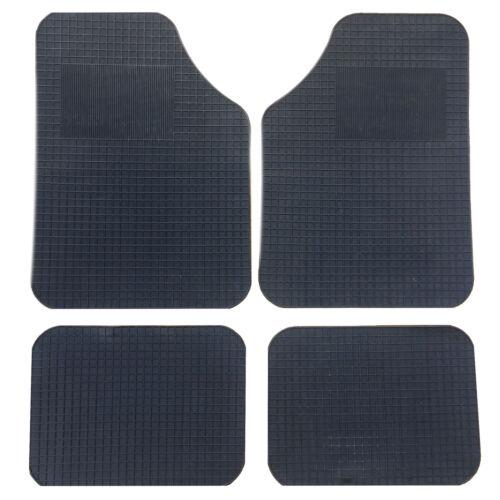 Black Rubber Floor Mat Set