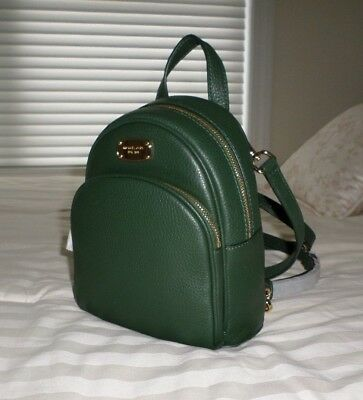 63635e9fe745 NWT Michael Kors ABBEY XS Leather Backpack Crossbody Bag MOSS DkGreen  38F7XAYB1L