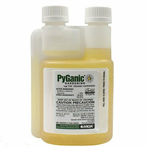 PyGanic Gardening 8oz Botanical Insecticide Pyrethrin Concentrate Kills Rapidly