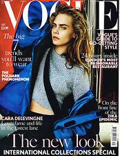VOGUE Magazine BRITISH September 2016 Cara Delevingne + supplement NEW