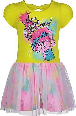 Trolls Poppy 5th fifth Birthday ***With NAME*** Pink Tutu Dress  Fast Shipping