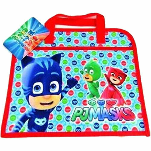 PJ Masks School Book Bag Document Holder Children Kid Boys Blue Gekko Catboy