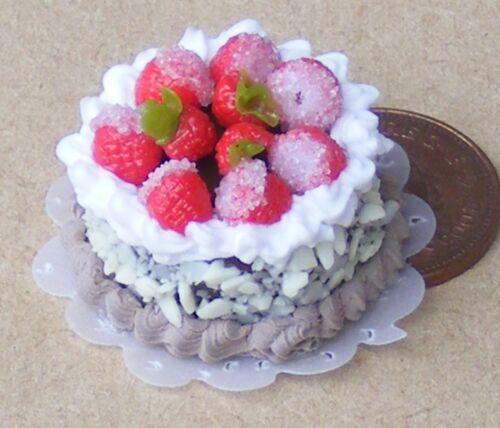 Échelle 1:12 gâteau avec du Chocolat Glaçage tumdee maison de poupées miniature boulangerie NC17
