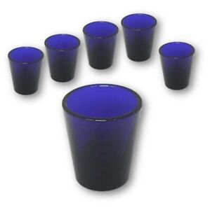 SET-OF-6-LIBBEY-WHISKEY-SHOT-GLASSES-1-5-OZ-COBALT-BLUE-GLASS-NEW