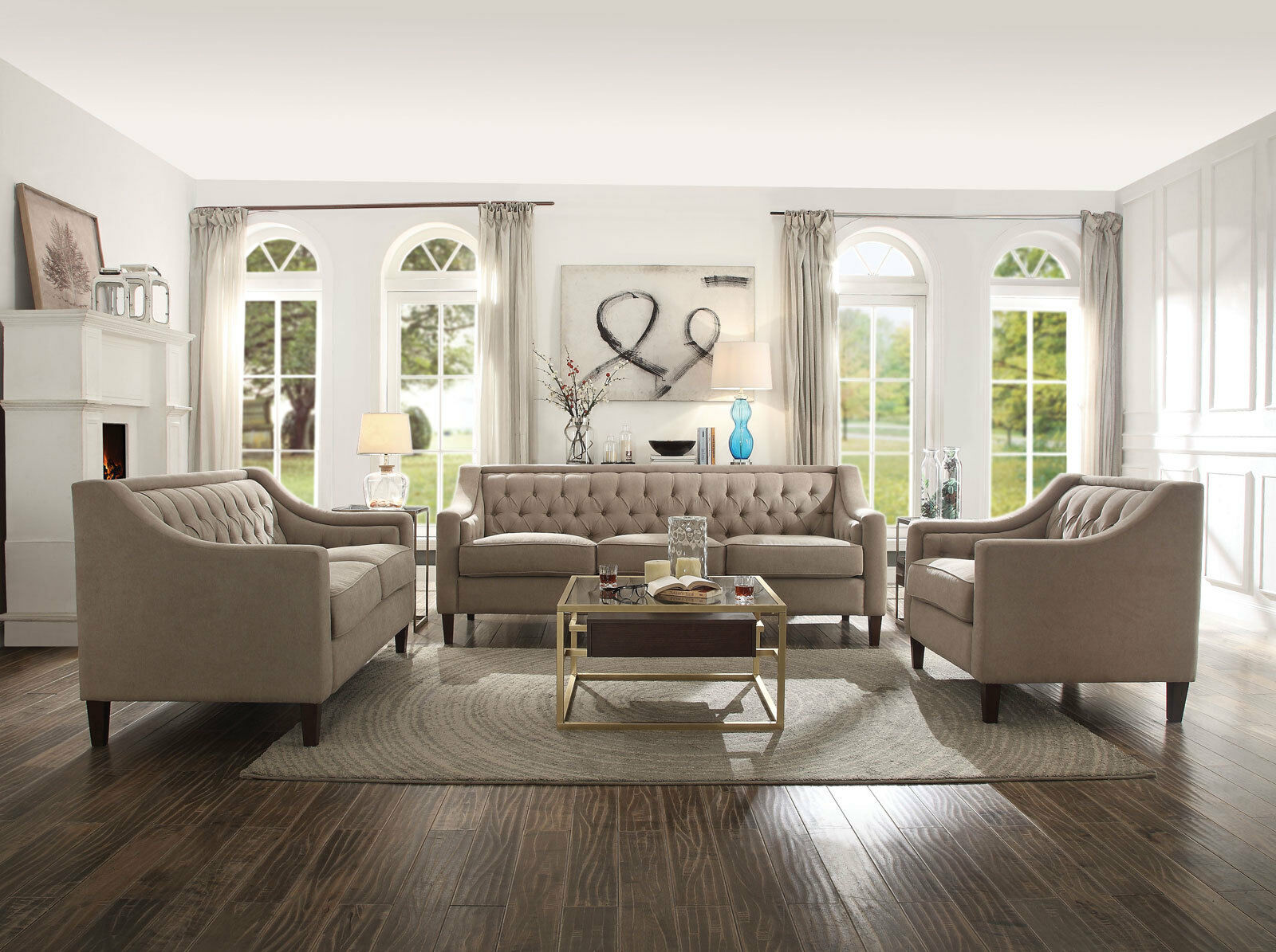 Picture of: Modern 3 Piece Living Room Couch Set Tiendamia Com