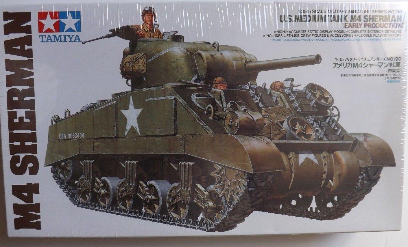 1 35 Tamiya EE.UU. Tanque Medio M4 (Early Producción) Sherman mi Amigos Kits