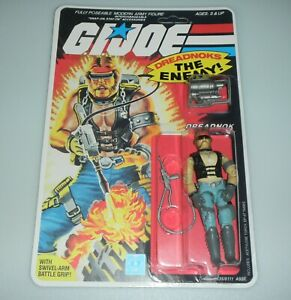 *RECARDED* 1985 GI Joe Torch Figure Complete Sealed *CUSTOM File Card Back*