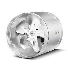 Inline Duct Fan 8 Inch 420 Cfm Exhaust Blower Booster Vent Air Ventilation