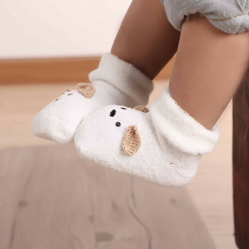Toddler Baby Cartoon Dog Socks Anti Slip Thick Warm Soft Ankle Socks Z