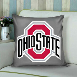 Details About Pillow Case Ohio State S Two Side 18x18 Cover With A Zippered