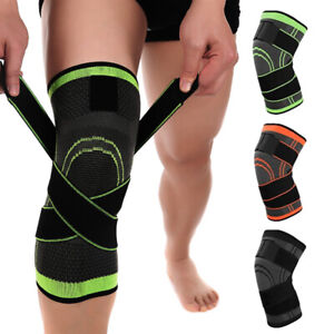 2-Knee-Sleeve-Compression-Brace-Patella-Support-Stabilizer-Sports-Gym-Joint-Pain