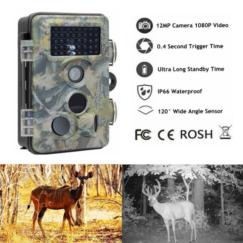 2.4  12MP HD 1080P Farm Security Wildlife IR Night Vision Trail Hunting Camera
