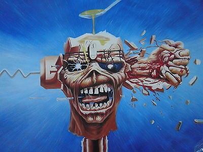 Iron Maiden Oil Painting 40x28 not print or poster Framing also available.