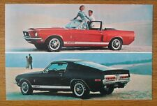 FORD Shelby Cobra GT 350 500 orig USA Mkt sales card - Mustang brochure related