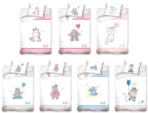 Baby Bettwäsche 100x135 Babybettwäsche Kinderbettwäsche Katze Bär Elefant Zebra