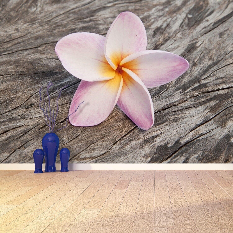 Fototapete Selbstklebend Einfach ablösbar Mehrfach klebbar Frangipani Holz