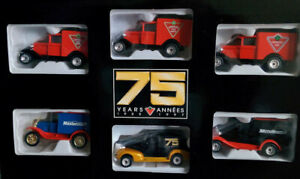 Vintage-SET-OF-MATCHBOX-Die-Cast-Delivery-Trucks-CANADIAN-TIRE-75-years-1997-LOT