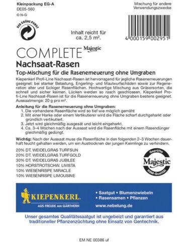 Kiepenkerl nachsaat-gazon Pelouse renouvellement sans retournement pour environ 2,5 mâ²