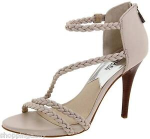 6ec2fe913e6ef Details about New Michael Kors Pumps Heels Shoes Alexa High Sling Sandal  Leather Vanilla White