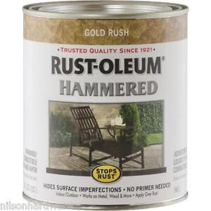Details about 1 Qt Gold Rust-Oleum Gloss Hammered Metal Finish Oil Base  Paint 7210-502