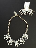 J Crew Crystal Chandelier Statement Necklace Earring Set $216 E9074 Retail