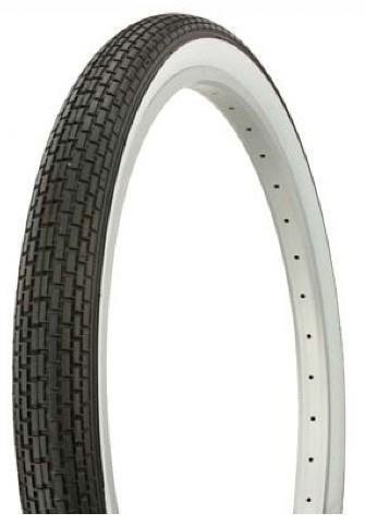 2X DURO 20  BMX Dragster Bike Tyre -  20  x 1.75  - White Wall - Retro Vintage