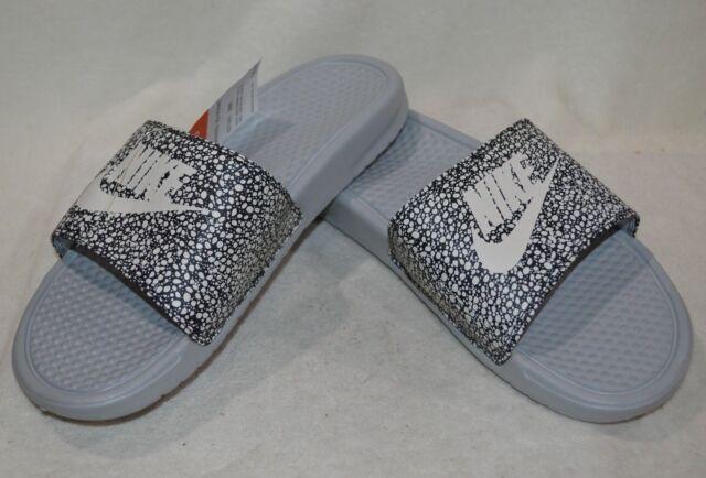 sports shoes 3460d e77ec Nike Benassi JDI Print Grey White Men s Slides Sandals-8 9 10