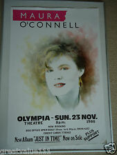MAURA O`CONNELL CONCERT GIG POSTER FULLY DATED1986 UNRELEASED PRINTERS POSTERGEM