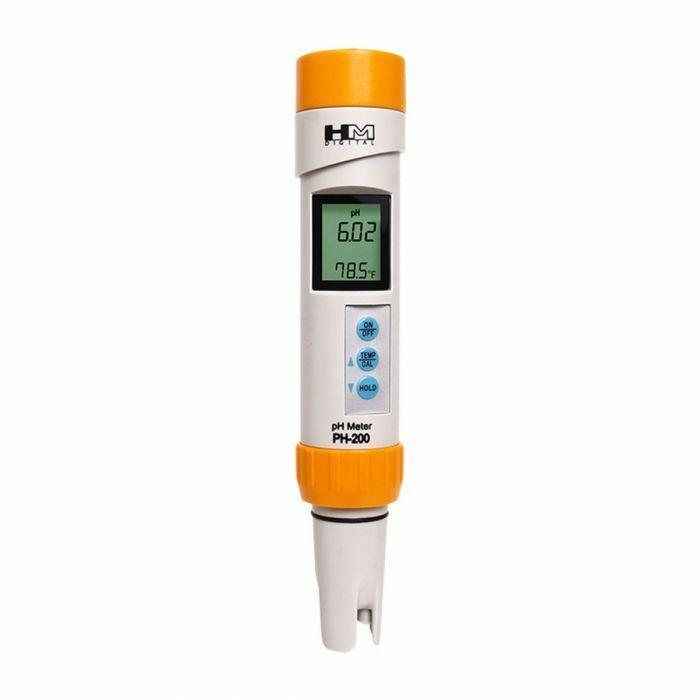 HM Digital Waterproof PH Testing Meter PH-200 Hand Held Water Purity Treatment
