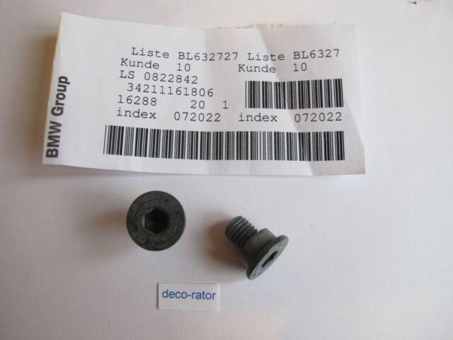 NEW GENUINE BMW MINI ROLLS M8X14 RETAINING BRAKE DISC HEX BOLT SCREW 34211161806