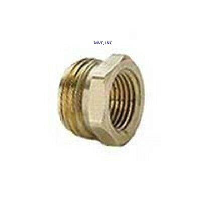 """GARDEN HOSE FITTING 3//4/"""" MALE GHT x 1//2/"""" FEMALE NPT PIPE BRASS ADAPTER /<18A-12D"""