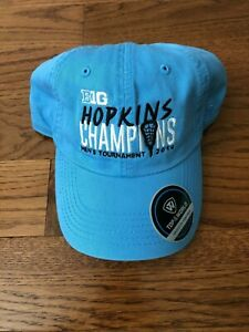 2019-JOHN-HOPKINS-LACROSSE-PLAYER-TEAM-ISSUED-BIG-TEN-CHAMPIONSHIP-HAT-NEW
