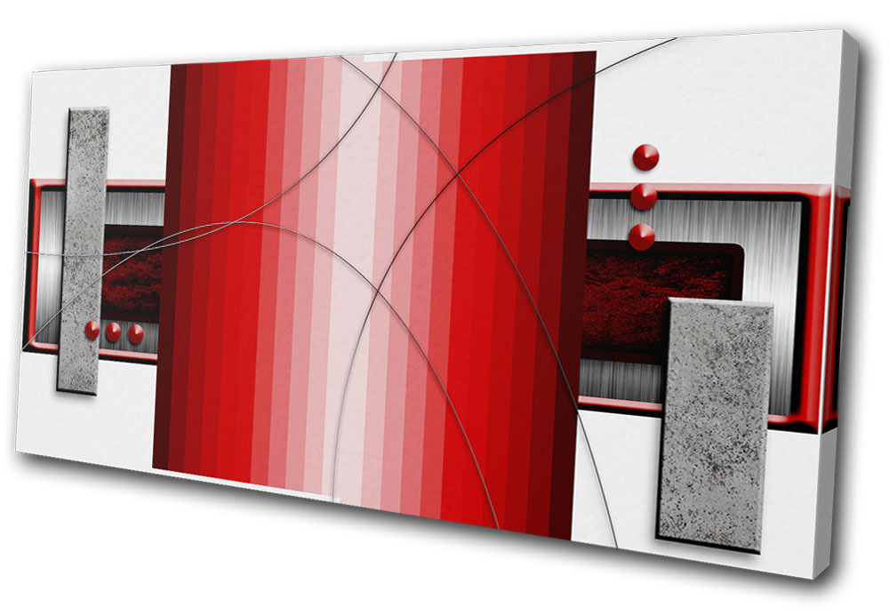 Abstract Abstract rosso Art Collage  SINGLE TELA parete arte foto stampa