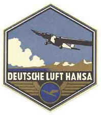 Deutsche Lufthansa Airlines    Vintage-Looking   Sticker/Decal/Luggage Label