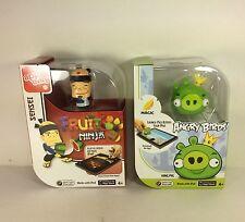 2 Mattel Apptivity iPad Game Accessory Angry Birds King Pig + Sensei Fruit Ninja