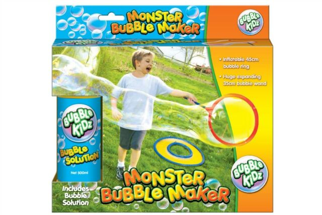 Inflatable Giant Jumbo Bubble Wand Maker Ring Set Kid Garden Summer Beach  Toys