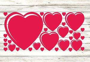 30x-Herzen-Aufkleber-Wandtattoo-Herz-Liebe-Love-Folie-Sticker-Fensteraufkleber